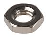 RS PRO Stainless Steel, Hex Nut, M4