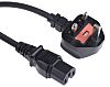 RS PRO 2m Power Cable, C15, IEC to