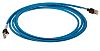 Omron FTP, STP Cat6a Cable 3m, Blue, Male