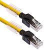 Omron FTP, STP Cat6a Cable 1m, Yellow, Male