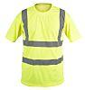 RS PRO Yellow Unisex Hi Vis T-Shirt, L