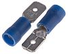 RS PRO, Blue Insulated Crimp Tab Terminal, 1.5mm²