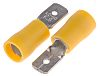 RS PRO, Yellow Insulated Crimp Tab Terminal, 4mm²
