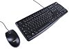 Logitech Keyboard and Mouse Set Wired AZERTY Black