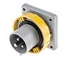 RS PRO IP67 Yellow Panel Mount 2P+E Industrial