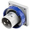 RS PRO IP67 Blue Panel Mount 2P+E Industrial