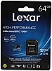 Lexar 64 GB MicroSDHC, MicroSDXC Card Class 10,