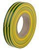 RS PRO Green, Yellow PVC Electrical Tape, 12mm