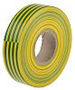 RS PRO Green, Yellow PVC Electrical Tape, 19mm