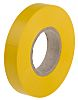 RS PRO Yellow PVC Electrical Tape, 12mm x