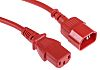 RS PRO 2m Power Cable, C13, IEC to