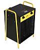 22kW Fan Heater, Portable, 415 V BS4343/IEC60309