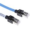 Omron Cat6a Cable 15m, Blue, Male RJ45/Male RJ45