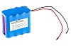 Batería recargable de Ión-Litio, 14.8V, 5.2Ah, 8 celdas 73 x 68 x 42 mm, terminación en cable