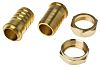 RS PRO Straight Brass Hose Connector, 1-1/2 in