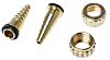 RS PRO Straight Brass Hose Connector, 1/2 in