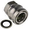 Straight Hose Coupling 3/8in Coupler to Threaded, 3/8
