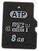 ATP Micro SD Karte, MicroSD 8 GB, Class 10, UHS-1 U1, MLC