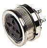 Conector hembra DIN Hembra Recta serie C 091 D 3 pines IP67, 5A, 300 V ac/dc
