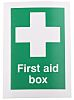 RS PRO Vinyl Green/White, First Aid Box-Text, English