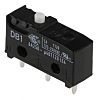 SPDT-NO/NC Button Microswitch, 6 A @ 250 V