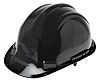RS PRO Adjustable Black Helmet & Hard Hat