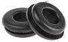 SES Sterling Black PVC 15mm Round Cable Grommet