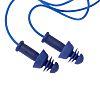 Uvex Corded Reusable Ear Plugs, 27dB, Blue, 50