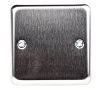 MK Electric 1 Gang Blanking Plate Stainless Steel