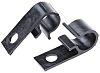 HellermannTyton Cable Clip Black Screw Polyacetal Cable Clip,