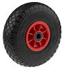 RS PRO Polypropylene, Polyurethane Black, Red Castor Wheels,