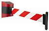 Tensator Red & White Barrier Tape, Retractable 4.6m