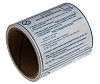SCS Blue Paper ESD Label, Moisture Sensitive Caution