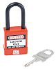 1 Lock, 6mm Shackle PVC, Standard Steel Safety
