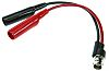Pomona Black, Red BNC Test Lead, 150V ac,