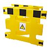 Addgards Black & Yellow Safety Barrier, Extendable Barrier