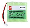 RS PRO 3.6V NiMH Rechargeable Battery Pack, 280mAh