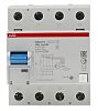 ABB 4 Pole Residual Current Circuit Breaker, 125A