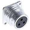 Amphenol Socapex Solder Connector, 3 Contacts, Panel Mount