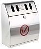 RS PRO Stainless Steel Wall Mounting Ash Tray,