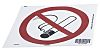 PET No Smoking Prohibition Sign, None