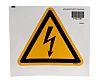 Panneau de danger, avec pictogramme : Danger Electricité, Auto-adhésif