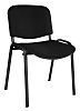 RS PRO Fabric Stacking Chair Black