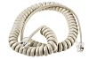 RS PRO Cream Telephone Extension Cable Male RJ9(4/4)