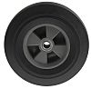RS PRO Black Rubber Castor Wheels, 600kg