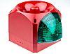 Klaxon Sounder Beacon 116dB, Green LED, 10 →
