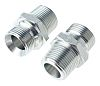 Parker Hydraulic Straight Threaded Adapter 12F3MK4S, Connector A