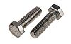 Plain Stainless Steel Hex Hex Bolt, M12 x