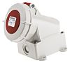 Mennekes IP67 Red Wall Mount 3P+N+E Right Angle