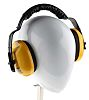 RS PRO Ear Defender with Headband, 28dB, Yellow